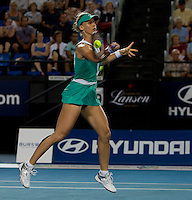Elena Dementieva (RUS) against Yaroslava Shedova (KAZ) in the Group B match between Russia and Kazakhstan. Dementieva (Rus) beat Shvedova (KAZ) 6-3 6-1..International Tennis - Hyundai Hopman Cup XXII - Wed  06 Jan 2010 - Burswood Dome - Perth - Australia ..© Frey, AMN Images, 1st Floor, Barry House, 20-22 Worple Road, London, SW19 4DH.Tel - +44 20 8947 0100
