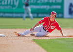 7 March 2016: Washington Nationals infielder Trea Turner slides into second during a Spring Training pre-season game against the Miami Marlins at Space Coast Stadium in Viera, Florida. The Nationals defeated the Marlins 7-4 in Grapefruit League play. Mandatory Credit: Ed Wolfstein Photo *** RAW (NEF) Image File Available ***