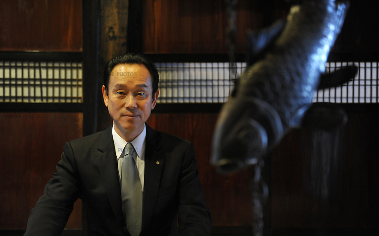 Mr. Hidekazu Tone, owner of the Lamp no Yado, a luxurious Japanese ryokan, located on the tip of Noto Peninsula.
