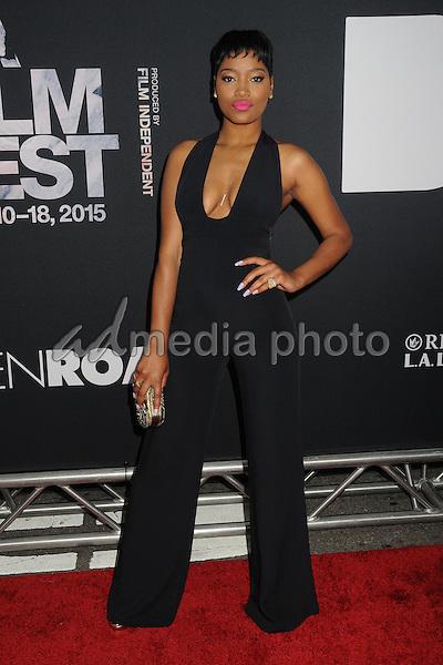 "8 June 2015 - Los Angeles, California - Keke Palmer. LA Film Festival 2015 Premiere of ""Dope"" held at Regal Cinemas L.A. Live. Photo Credit: Byron Purvis/AdMedia"