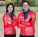 The mens and womens Team GB Winter Olympic Curling Teams 2014 skips David Murdoch and Eve Muirhead.