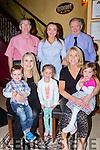 The Casey/Duggan family enjoying a celebration meal in Lord Kenmares restaurant on Saturday night front row l-r: Norma Duggan, Marie Casey, Noah Duggan, Isabella Duggan, Sienna Duggan. Back: Jerome Casey, Beatrice Casey and Cornie Vaughan