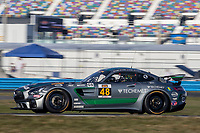 48, Mercedes-AMG, Mercedes-AMG GT4, GS, Jeroen Bleekemolen, IMSA Continental Tire SportsCar Challenge<br /> December Test<br /> Daytona International Speedway<br /> Daytona Beach, FL USA<br /> Wednesday, 06 December 2017<br /> <br /> World Copyright: Brian Cleary<br /> LAT Images