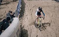 Tom Pidcock (GBR/U23/Telenet Fidea Lions)<br /> <br /> U23 race<br /> <br /> UCI cyclocross World Cup Koksijde / Belgium 2017