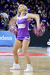 Real Madrid's cheerleader during Liga Endesa match between Real Madrid and FC Barcelona Lassa at Wizink Center in Madrid, Spain. March 12, 2017. (ALTERPHOTOS/BorjaB.Hojas)