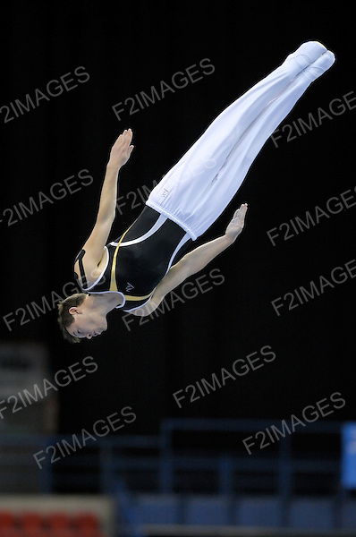 23.07.2011 British Trampoline Tumbling and DMT Championships from the NIA in Birmingham Steven Williams from the City of Liverpool in action