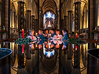 Salisbury Cathedral Choir prepares for its annual 'Carol's by Candlelight' services