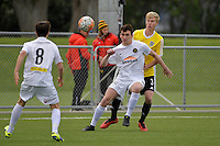 Team Wellington&rsquo;s Ihaia Delaney in action during the National Youth League - Phoenix Youth v Team Wellington Youth at Petone Memorial Park, Lower Hutt, New Zealand on Saturday 29 October 2016.<br /> Photo by Masanori Udagawa. <br /> www.photowellington.photoshelter.com.