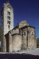 Europe/France/Midi-Pyrénées/09/Ariège/Couserans/Unac: Le chevet de l'église romane