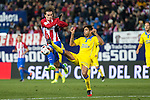 Atletico de Madrid's Antoine Griezmann and UD Las Palmas Aythami Artiles during the match of Copa del Rey between Atletico de Madrid and Las Palmas, at Vicente Calderon Stadium,  Madrid, Spain. January 10, 2017. (ALTERPHOTOS/Rodrigo Jimenez)