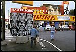 Tower Records on the Sunset Strip with mural of Elvis circa 1996
