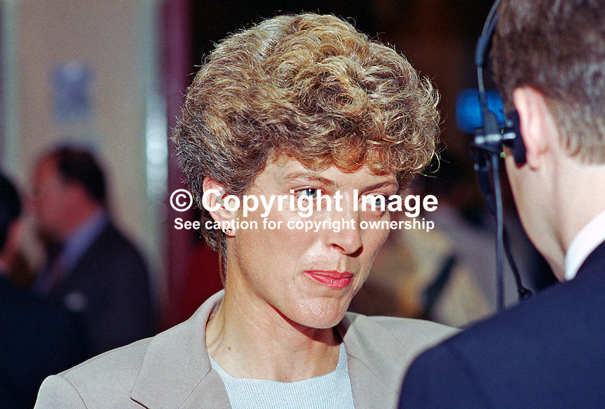 Anne Perkins, broadcaster, BBC, journalist, UK, 198510226.<br /> <br /> Copyright Image from Victor Patterson, 54 Dorchester Park, Belfast, UK, BT9 6RJ<br /> <br /> t1: +44 28 9066 1296<br /> t2: +44 28 9002 2446<br /> m: +44 7802 353836<br /> <br /> e1: victorpatterson@me.com<br /> e2: victorpatterson@gmail.com<br /> <br /> www.victorpatterson.com<br /> <br /> IMPORTANT: Please see my Terms and Conditions of Use at www.victorpatterson.com