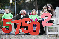 "NO REPRO FEE. 18/11/2010. METEOR CHRISTMAS TEXT APPEAL. Actress and Barnardos Ambassador Sarah Bolger and Barnardos CEO Fergus Finlay are pictured with Thomad Donoghue 3, Alice Davies 3 and Ruby Glynn 2 in the grounds of IMMA to launch the Meteor Christmas text appeal to raise urgently needed funds for Barnardos this Christmas. Meteor customers can donate EUR2 with every cent going to the charity, by simply texting ""Barnardos"" tp 57502. Picture James Horan/Collins Photos"