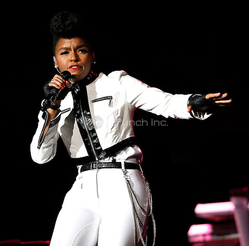NEW ORLEANS - JULY 4: Janelle Monae performs at the 2014 Essence Festival at the Superdome in New Orleans, Louisiana on July 4, 2014. (Photo by Aaron M. Sprecher/PictureGroup)