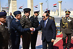 Egyptian President Abdel-Fattah el-Sisi attends a ceremony of the Martyr day following Friday prayers in Cairo on March 8, 2019. Photo by Egyptian President Office