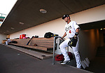 Reno Aces' Garrett Weber comes out of the tunnel before a game against the Albuquerque Isotopes in Reno, Nev., on Saturday, April 18, 2015.<br /> Photo by Cathleen Allison