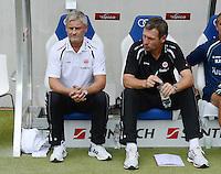 FUSSBALL  1. BUNDESLIGA  SAISON 2012/2013  2. SPIELTAG    01.09.2012 TSG 1899 Hoffenheim  - Eintracht Frankfurt Trainer Armin Veh (li, Eintracht Frankfurt) und Co-Trainer Reiner Geyer (Eintracht Frankfurt)