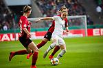 01.05.2019, RheinEnergie Stadion , Köln, GER, DFB Pokalfinale der Frauen, VfL Wolfsburg vs SC Freiburg, DFB REGULATIONS PROHIBIT ANY USE OF PHOTOGRAPHS AS IMAGE SEQUENCES AND/OR QUASI-VIDEO<br /> <br /> im Bild | picture shows:<br /> Ewa Pajor (VfL Wolfsburg #17) setzt sich durch, <br /> <br /> Foto © nordphoto / Rauch