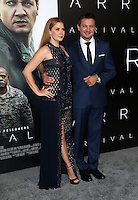 "Westwood, CA - NOVEMBER 06: Amy Adams, Jeremy Renner at Premiere Of Paramount Pictures' ""Arrival"" At Regency Village Theatre, California on November 06, 2016. Credit: Faye Sadou/MediaPunch"