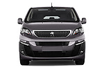 Car photography straight front view of a 2017 Peugeot Traveller Allure 4 Door Passenger Van Front View