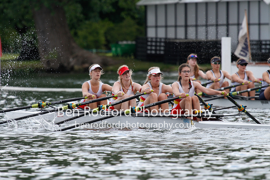 Race: 187 J16 4x Quarter-Final - Tideway Scullers Sch vs Henley RC<br /> <br /> Henley Women's Regatta 2017<br /> <br /> To purchase this photo, or to see pricing information for Prints and Downloads, click the blue 'Add to Cart' button at the top-right of the page.