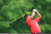Thongchai JAIDEE (THA) drives at the 3rd hole during the final round of the 2015 BMW PGA Championship over the West Course at Wentworth, Virgina Water, London. 24/05/2015<br /> Picture Fran Caffrey, www.golffile.ie