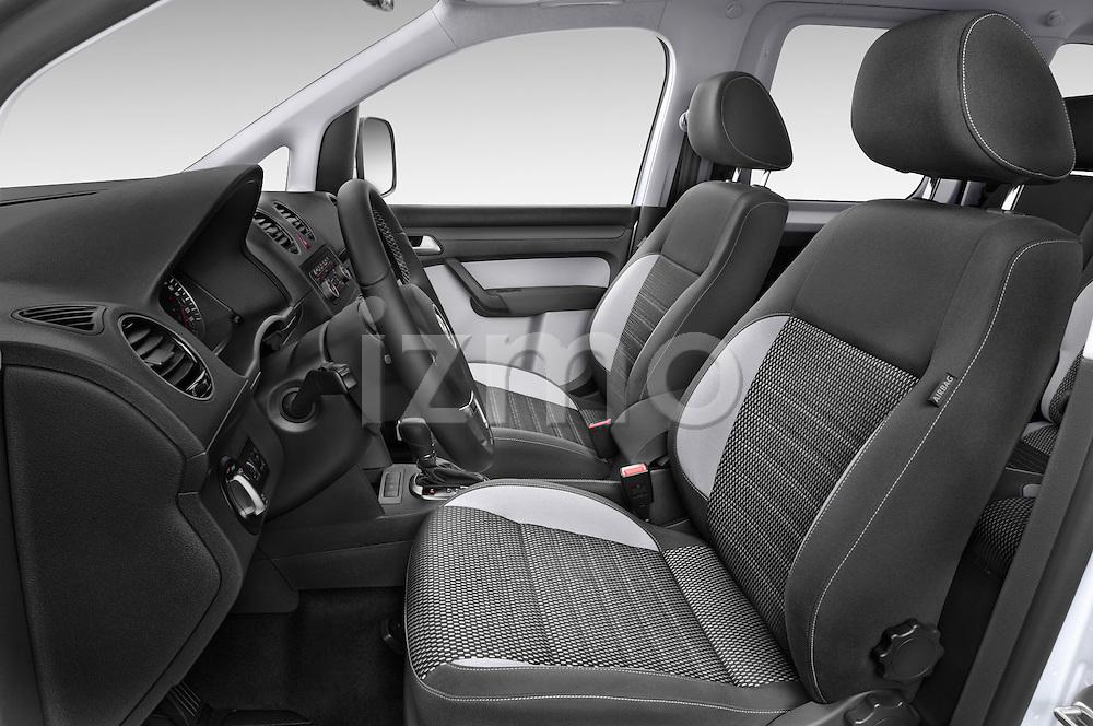 Front seat view of a 2013 Volkswagen Caddy Cross 5 Door Mini MPV 2WD Front Seat car photos