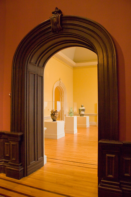 Doorway to art exhibits, interior, Renwick Gallery, a branch of the Smithsonian American Art Museum, Washington DC, USA, (not released), editorial only.