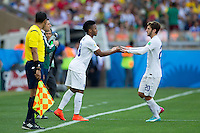 Raheem Sterling of England replaces Adam Lallana of England