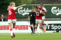 Danielle van de Donk of Arsenal Women celebrates scoring the opening Gunners goal  during Arsenal Women vs Manchester City Women, FA Women's Super League FA WSL1 Football at Meadow Park on 12th May 2018
