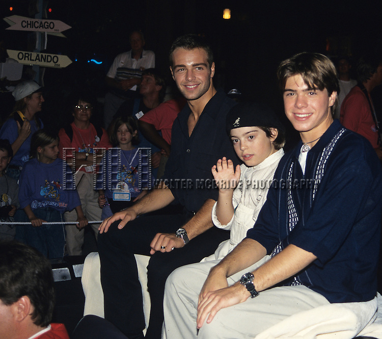 Joey Lawrence,  Andrew Lawrence and Matthew Lawrence pictured at Disney's 25th anniversary in Orlando, Florida in September of 1986.