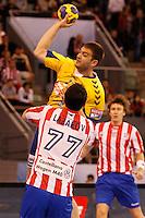 28.04.2012 MADRID, SPAIN -  EHF Champions League match played between BM At. Madrid vs  Cimos Koper (31-24) at Palacio Vistalegre stadium. The picture show Bojan Skoko (Center of Cimos Koper)
