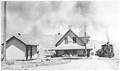 #316 at Ridgway depot.<br /> RGS  Ridgway, CO  8/1940