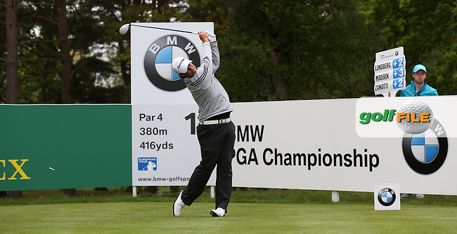 Maarten Lafeber (NED) during Round Two of the 2015 BMW PGA Championship over the West Course at Wentworth, Virginia Water, London. 22/05/2015Picture David Lloyd, www.golffile.ie.