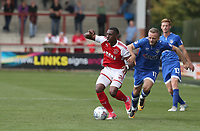 Fleetwood Town's Amari'i Bell is held back by Oldham Athletic's Ryan McLaughlin<br /> <br /> Photographer Stephen White/CameraSport<br /> <br /> The EFL Sky Bet League One - Fleetwood Town v Oldham Athletic - Saturday 9th September 2017 - Highbury Stadium - Fleetwood<br /> <br /> World Copyright &copy; 2017 CameraSport. All rights reserved. 43 Linden Ave. Countesthorpe. Leicester. England. LE8 5PG - Tel: +44 (0) 116 277 4147 - admin@camerasport.com - www.camerasport.com