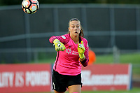 Piscataway, NJ - Saturday August 19, 2017: Kailen Sheridan during a regular season National Women's Soccer League (NWSL) match between Sky Blue FC and the Seattle Reign FC at Yurcak Field.
