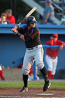 Aberdeen Ironbirds first baseman David Anderson (50) during a game vs. the Batavia Muckdogs at Dwyer Stadium in Batavia, New York;  August 10, 2010.   Aberdeen defeated Batavia 4-2.  Photo By Mike Janes/Four Seam Images