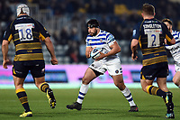 Lucas Noguera of Bath Rugby in possession. Gallagher Premiership match, between Worcester Warriors and Bath Rugby on January 5, 2019 at Sixways Stadium in Worcester, England. Photo by: Patrick Khachfe / Onside Images