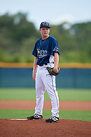GCL Rays pitcher Ben Peoples (36) during a Gulf Coast League game against the GCL Pirates on August 7, 2019 at Charlotte Sports Park in Port Charlotte, Florida.  GCL Rays defeated the GCL Pirates 5-3 in the second game of a doubleheader.  (Mike Janes/Four Seam Images)
