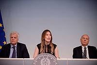 Roma, 10 Maggio 2017<br /> Maria Elena Boschi, Gian Luca Galletti, Erasmo D'Angelis<br /> Presentazione a Palazzo Chigi di ItaliaSicura