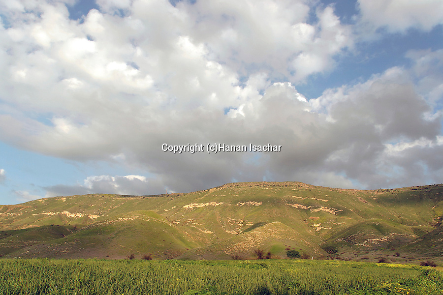 Haon Cliffs nature reserve by the Sea of Galilee
