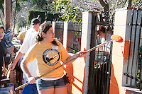 A private home in the neighborhood, Reach Our Community Kids, Inc- The ROCK Community Center. Occidental College's MLK Day of Service on Saturday, Jan. 28, 2012. Students, staff and alumni volunteered their day to help in the community. (Photo by Marc Campos, Occidental College Photographer)