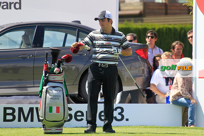 Francesco Molinari (ITA) prepares to tee off the 17th tee during Sunday's Final Round of the Open de Espana at Real Club de Golf de Sevilla, Seville, Spain, 6th May 2012 (Photo Eoin Clarke/www.golffile.ie)