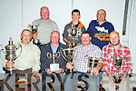 Padraic Coughlan, chairman Lough Le?in Anglers association, picture presenting Francis Kiely, winner of the Overall prize, best boat and best team prize after their annual competition in Killarney on Sunday. Also pictured are John Buckley, angler of the year, Ollie O'Shea, best Killarney angler, Con Murphy, heaviest salmon, Peter O'Brien, best juvenile and Phil Dewey, heaviest trout.