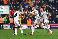 Raul Jimenez of Wolverhampton Wanderers runs back for the restart after scoring from the spot during AFC Bournemouth vs Wolverhampton Wanderers, Premier League Football at the Vitality Stadium on 23rd February 2019