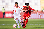 Ahmad Noorollahi of Iran (L) competes for the ball with Nguyen Cong Phuong of Vietnam (R) during the AFC Asian Cup UAE 2019 Group D match between Vietnam (VIE) and I.R. Iran (IRN) at Al Nahyan Stadium on 12 January 2019 in Abu Dhabi, United Arab Emirates. Photo by Marcio Rodrigo Machado / Power Sport Images