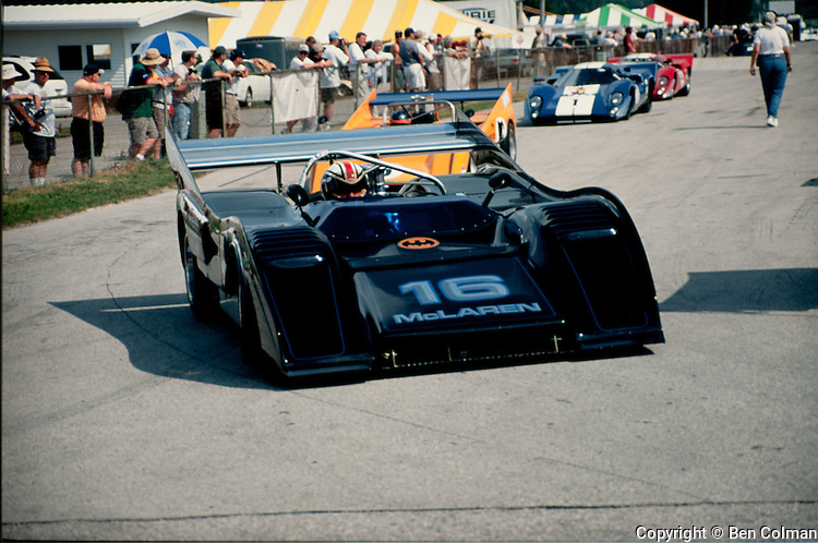 George Follmer in his McLaren M8