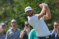 Dustin Johnson (USA) watches his tee shot on 13 during 2nd round of the World Golf Championships - Bridgestone Invitational, at the Firestone Country Club, Akron, Ohio. 8/3/2018.<br /> Picture: Golffile | Ken Murray<br /> <br /> <br /> All photo usage must carry mandatory copyright credit (&copy; Golffile | Ken Murray)