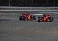 Charles LECLERC (FRA) (SCUDERIA FERRARI) (L) and Sebastian VETTEL (GER) (SCUDERIA FERRARI) (R) during the Bahrain Grand Prix at Bahrain International Circuit, Sakhir,  on 31 March 2019. Photo by Vince  Mignott.