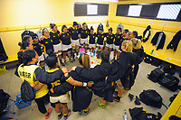 The Wellington team huddles before the Farah Palmer Cup women's provincial rugby match between Wellington Pride  and Auckland at Jerry Collins Stadium / Porirua Park, Wellington, New Zealand on Saturday, 23 September 2017. Photo: Dave Lintott / lintottphoto.co.nz